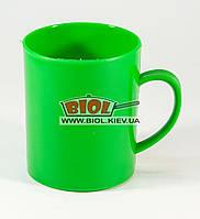 Кружка пластиковая 400мл цилиндрическая (цвет - зеленый) Горизонт GR-03046-2