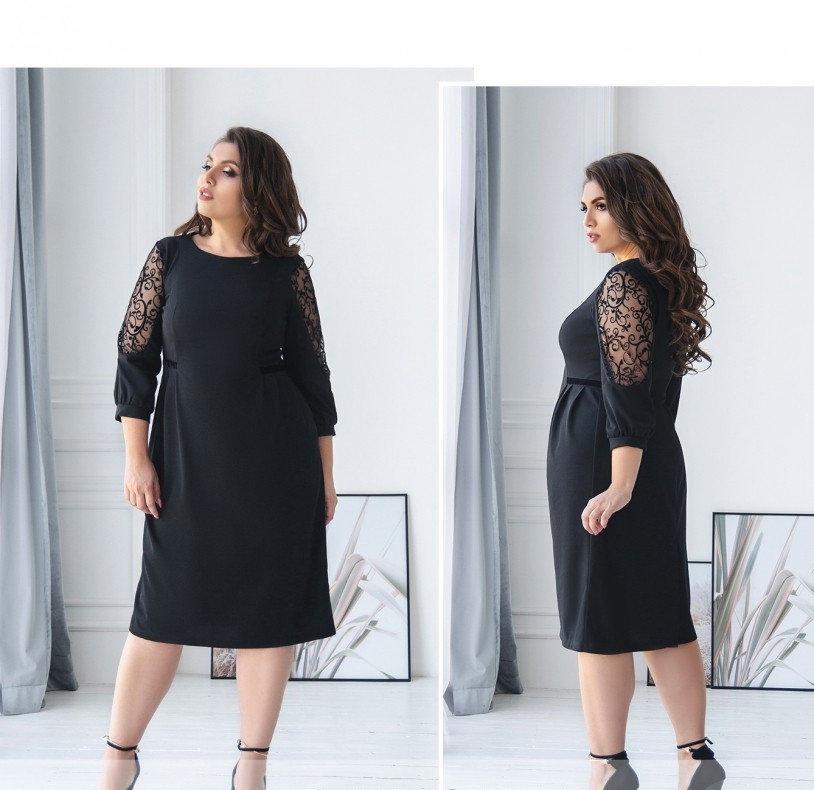 Платье свободного кроя для торжественного мероприятия №461-черный