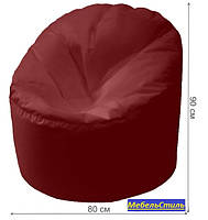 Пуф-мешок Пенек БМО14 бордовый 90х80, фото 2