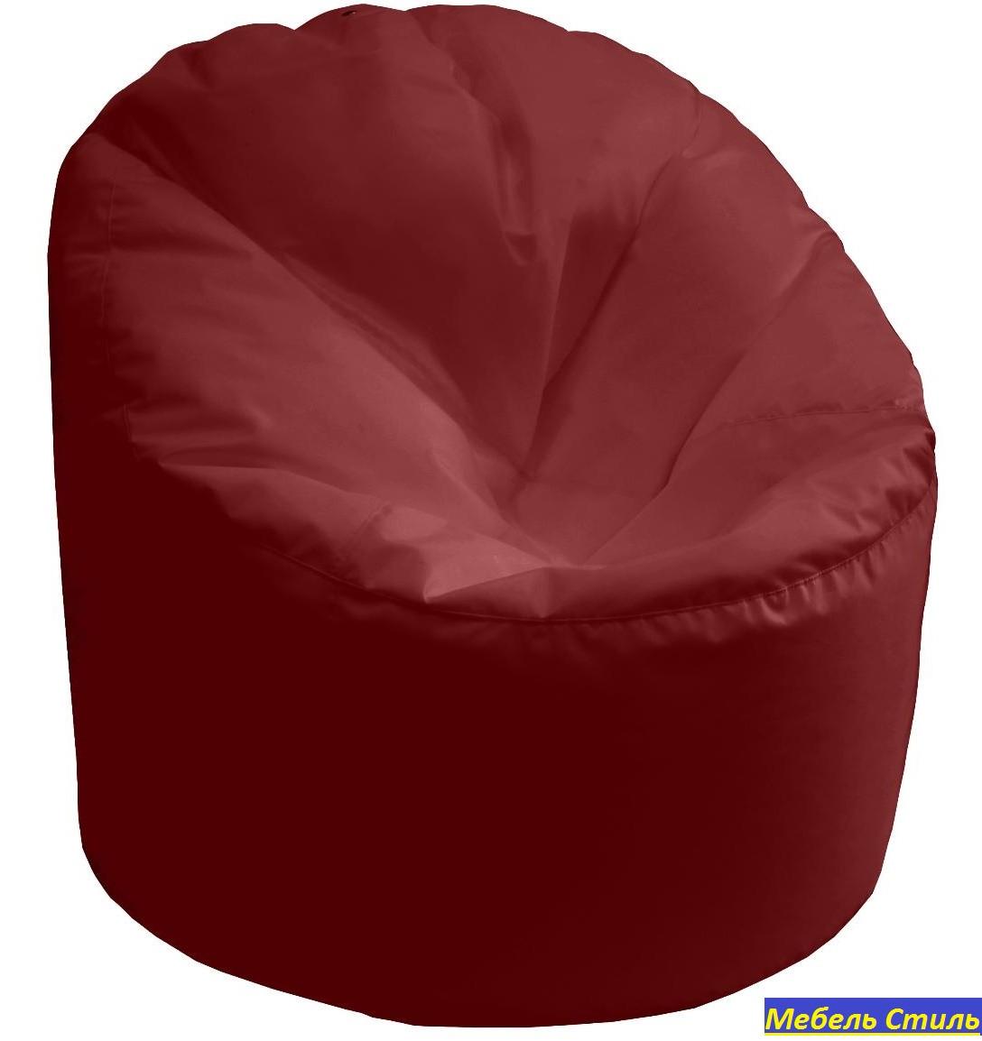 Пуф-мешок Пенек БМО14 бордовый 90х80