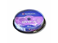 Диск VERBATIM DVD+R 4,7Gb 16x Cake 10 pcs Silver 43498