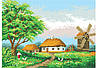 Атлас с нанесенным рисунком   «СЕЛЬСКИЙ ПЕЙЗАЖ»