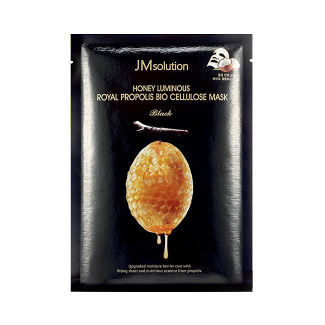 Увлажняющая питательная маска с прополисом JMsolution Honey Luminous Royal Propolis Bio Cellulose Mask-Black