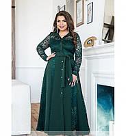 Платье А-силуэта №8618-темно-зеленый, фото 1
