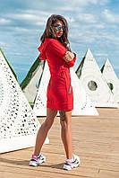 Стильное женское платье/туника! Цвет: красный