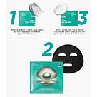 Трехшаговая зволожуюча тканинна маска набір з чорним перлами JMsolution Marine luminous black pearl Корея, фото 2