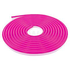 Светодиодный гибкий неон 3528/120led IP68 220V розовый