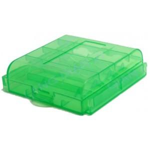 Футляр кейс коробочка для аккумуляторов AA, AAA, зеленый