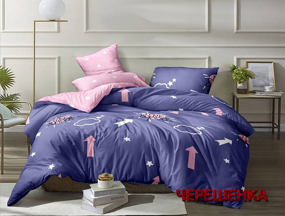 Двуспальный набор постельного белья 180*220 из Ранфорса №183083AB Черешенка™, фото 2