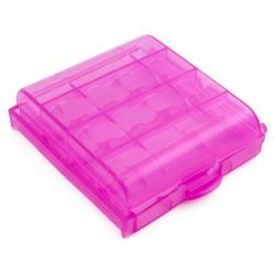 Футляр кейс коробочка для аккумуляторов AA, AAA, розовый