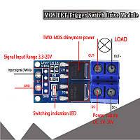 PWM Модуль на двух MOSFET AOD4184, ШИМ управление нагрузкой до 15А, 400Вт.