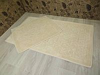 Набор ковриков для ванной комнаты и туалета 60Х100. Хлопок. (Турция)