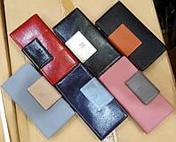 Женские кошельки-визитницы из искусственной кожи и карманом на молнии (разные цвета)