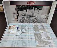 Постельное белье, евро размер, в постельных тонах, Hobby poplin, Турция