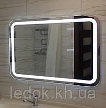 Зеркало для ванной с подсветкой  Omega 2 80*60см
