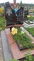 Памятники на могилу із червоним хрестом фото каталог
