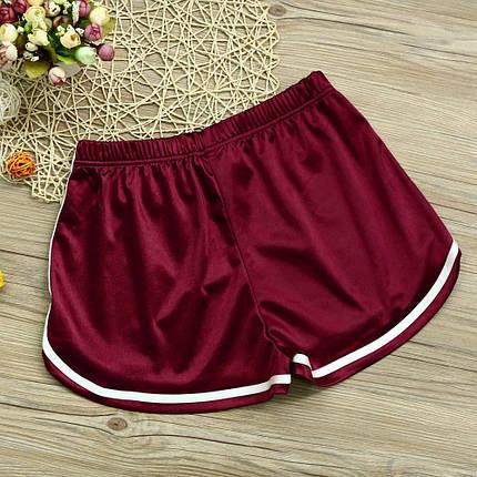 Женские спортивные шорты красный атлас, фото 2