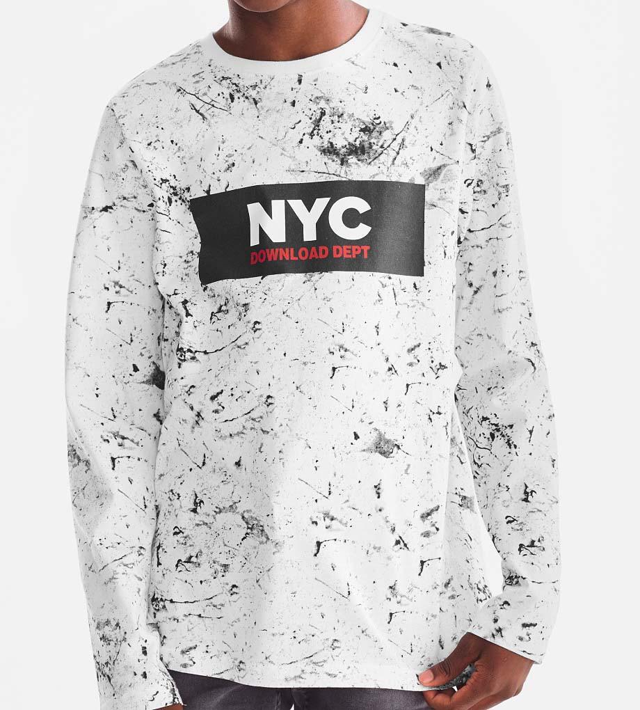 Хлопковая белая тонкая кофта с длинным рукавом C&A  NYC оригинал