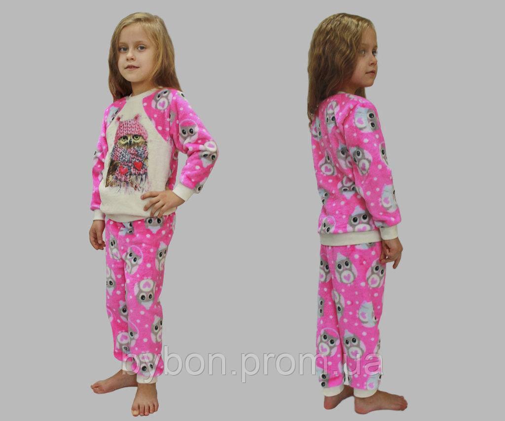 Пижама детская, велсофт набивной рост 86-122