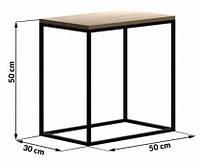 Прикроватный столик LNK LOFT 500*300*500, фото 1