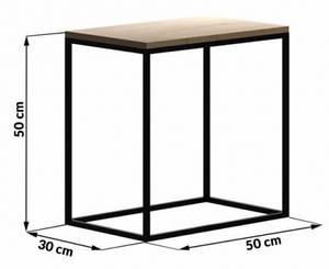Прикроватный столик LNK LOFT 500*300*500