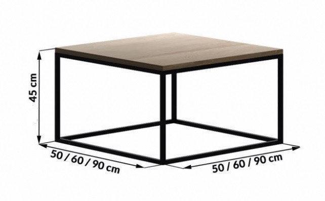 Кофейный Журнальный столик LOFT прямоугольный 450*500*500