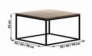 Кофейный Журнальный столик LOFT прямоугольный Middle 450*600*600