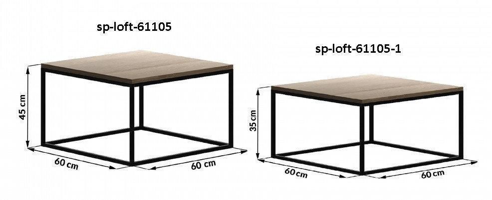 Кофейный Журнальный столик LNK-LOFT 450*900*900