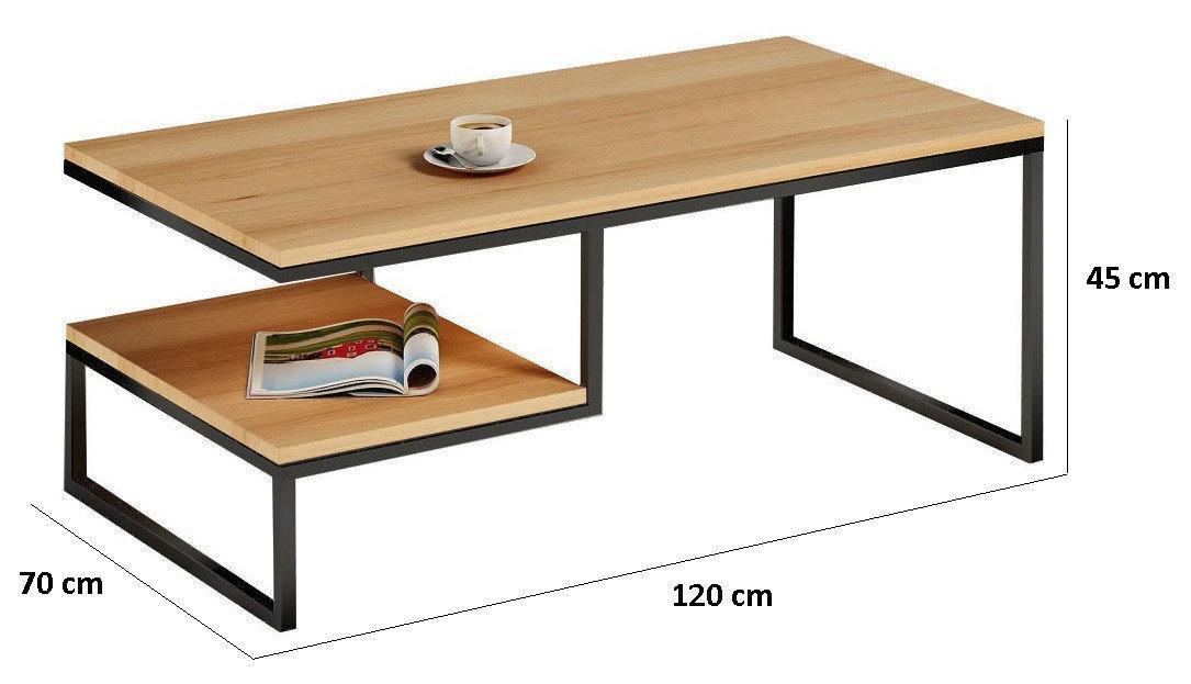 Кофейный Журнальный столик LOFT 700*1200*450