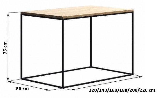 Обеденный стол Лофт LNK LOFT 120Х80х75