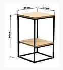 Прикроватный столик LNK - LOFT 600*350*350, фото 8