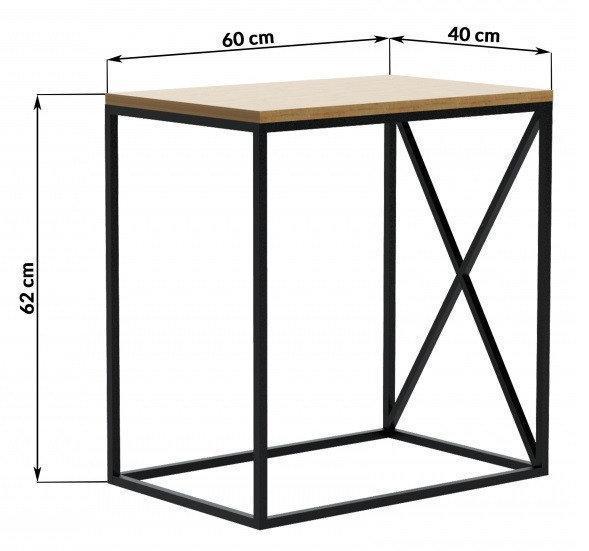 Приставной столик LNK - LOFT 620*600*400