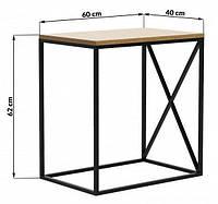 Приставной столик LNK - LOFT 620*600*400, фото 1
