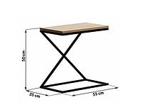 Прикроватный столик Lnk - LOFT 500*350*550, фото 1