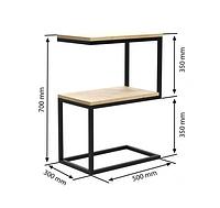 """Приставной столик LNK - LOFT """"2"""" 700*300*500, фото 1"""