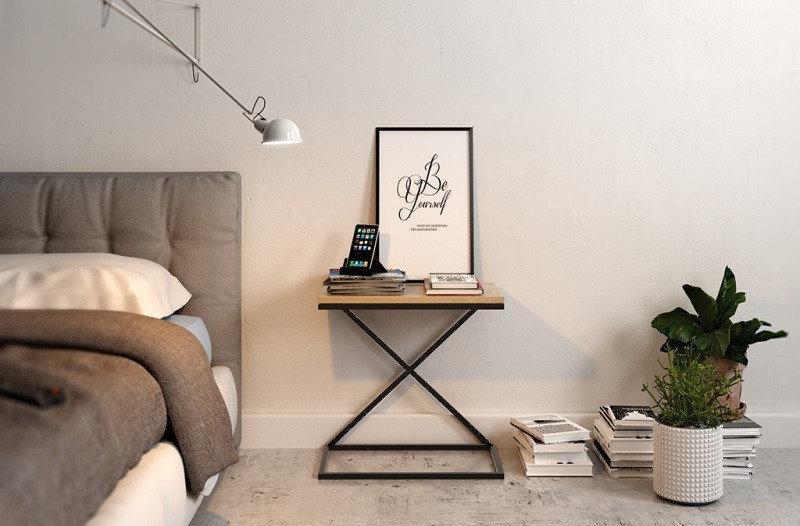 """Прикроватный столик LNK - LOFT """"Х"""" 500*350*550"""
