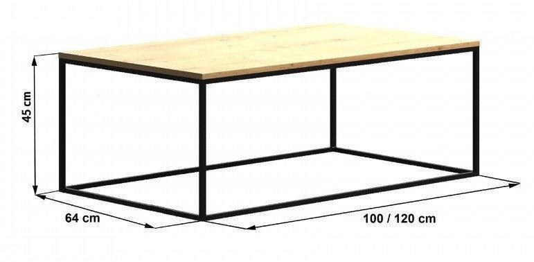 Кофейный Журнальный столик LNK - LOFT 450*1000*640