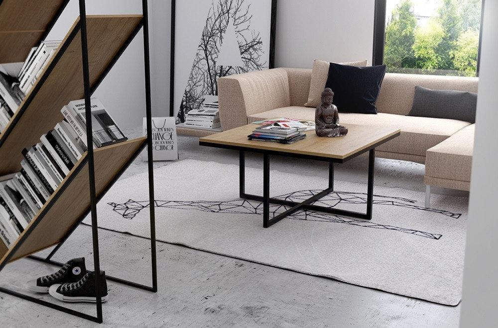 Кофейный Журнальный столик LNK - LOFT square small (470*600*600)