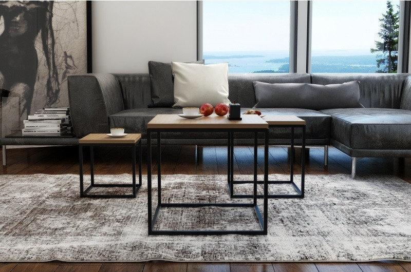 Кофейный Журнальный столик lnk - LOFT middle 400*400*400
