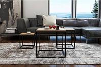 Кофейный Журнальный столик lnk - LOFT middle 400*400*400, фото 1