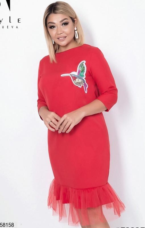 Красное нарядное платье больших размеров