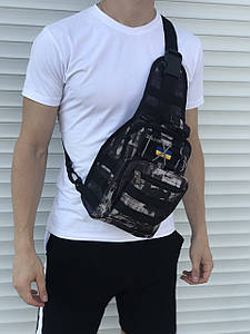 Цветная военная сумка через плечо, камфуляжная цветная