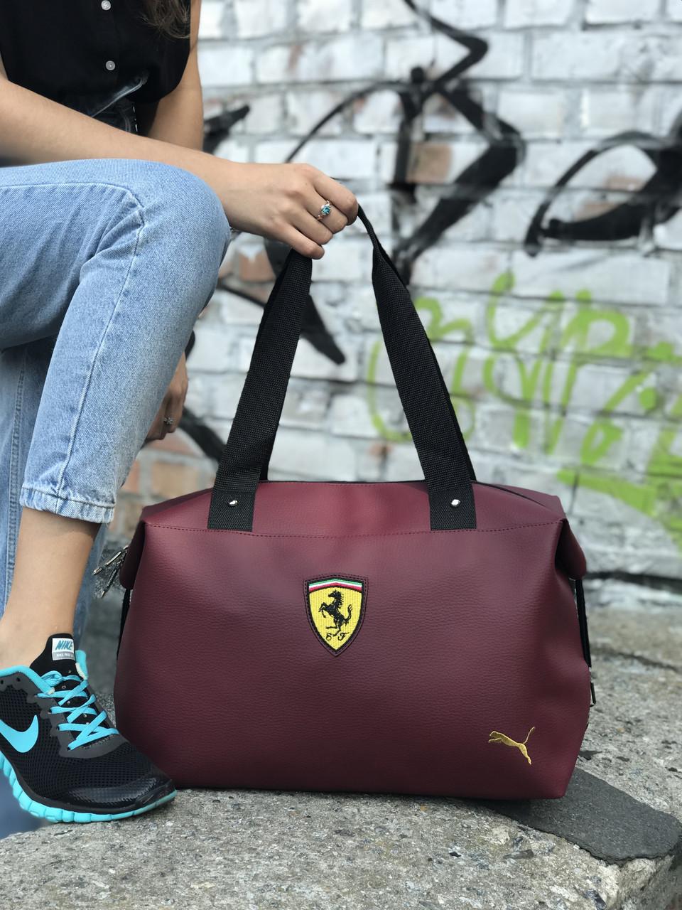 Женская спортивная сумка Puma Ferrari, бордовая