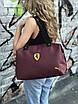 Женская спортивная сумка Puma Ferrari, бордовая, фото 2