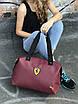 Женская спортивная сумка Puma Ferrari, бордовая, фото 3