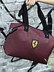 Женская спортивная сумка Puma Ferrari, бордовая, фото 4