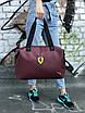 Женская спортивная сумка Puma Ferrari, бордовая, фото 5