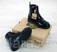 Зимние женские ботинки Dr. Martens 1460 Black Доктор Мартинс С МЕХОМ черные, фото 3
