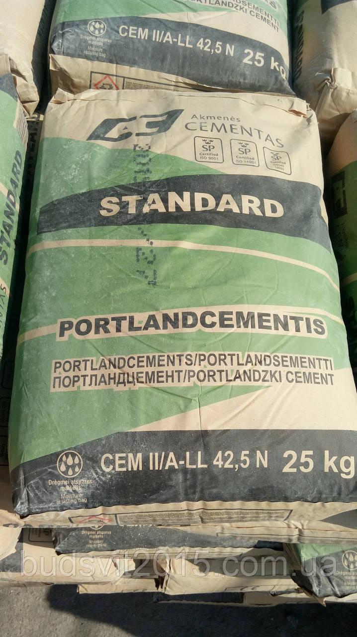 ПОРТЛАНДЦЕМЕНТ CEM II/ALL 42,5 N 25 кг 500 Стандарт Литва