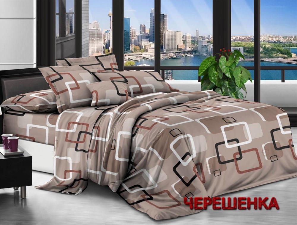 Полуторный набор постельного белья 150*220 из Ранфорса №18010 Черешенка™